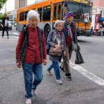 Seniors crossing the street
